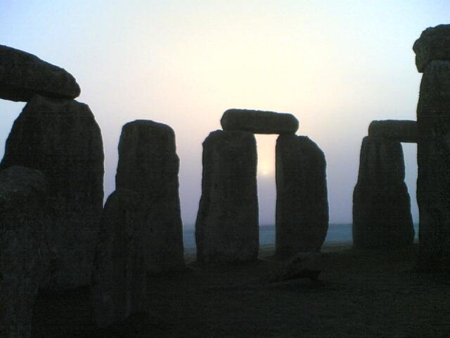 Stonehenge tijdens de inwijding